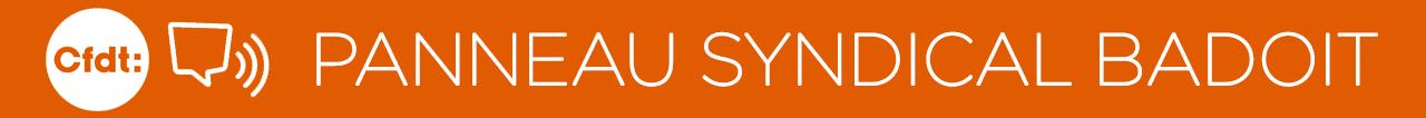 panneau Syndical BADOIT